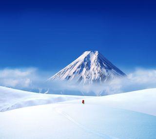Обои на телефон холм, снег, горы, hd snow hill, hd