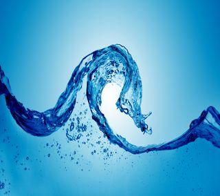 Обои на телефон удивительные, синие, самсунг, пузыри, галактика, вода, абстрактные, samsung, s4, s3, galaxy