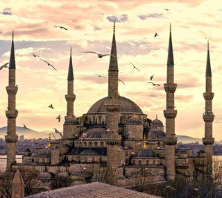 Обои на телефон турецкие, пейзаж, мечеть
