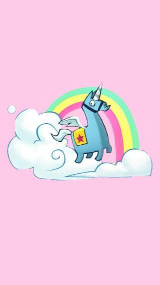 Обои на телефон единорог, фортнайт, телефон, розовые, облака, милые, fortnite