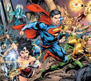 Обои на телефон чудо, супермен, справедливость, лига, киборг, аквамен, firestorm, dc