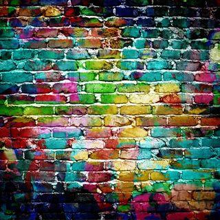 Обои на телефон кирпичи, цветные, стена, красочные, камни, backgcround