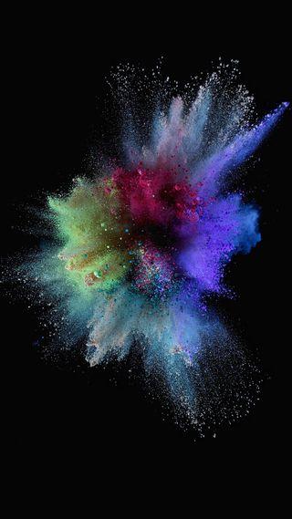 Обои на телефон пыль, красочные, дизайн, взрыв
