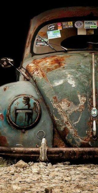 Обои на телефон escarabajo, oxidado, rusty, viejito, vocho, vw, машины, винтаж, фольксваген, жук, машина