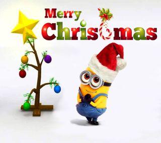 Обои на телефон счастливое, санта, рождество, праздничные, миньоны, милые, дерево