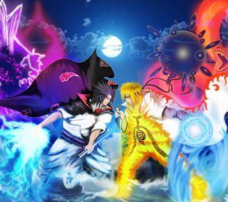 Обои на телефон против, саске, наруто, аниме, naruto vs sasuke