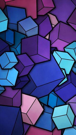 Обои на телефон квадратные, цветные, кубы, куб