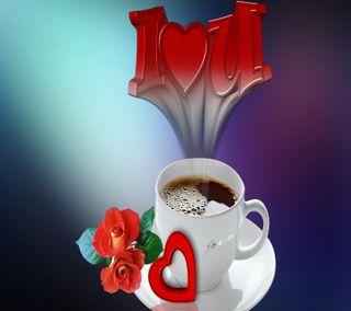 Обои на телефон чай, цветы, утро, сердце, навсегда, любовь, кофе, love, hd