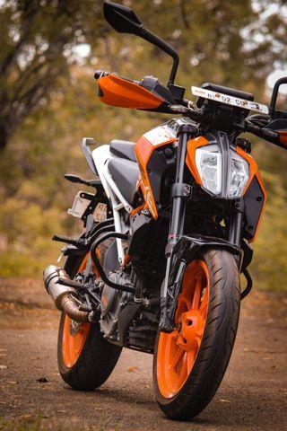 Обои на телефон сумерки, черные, мотоциклы, ктм, золотые, грани, байк, ktm duke390, duke
