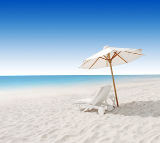 Обои на телефон песок, синие, природа, пляж, море, белые, амбрелла