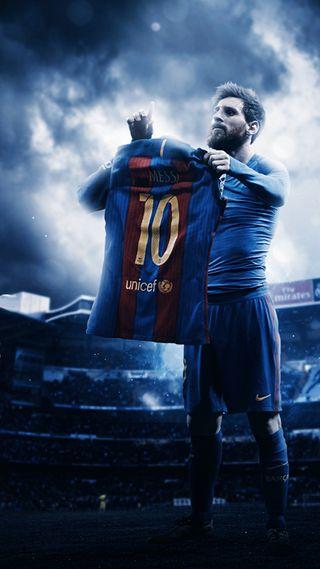 Обои на телефон футбольные, футбол, облака, номер, игрок, барселона, аргентина, messis tshirt, 10