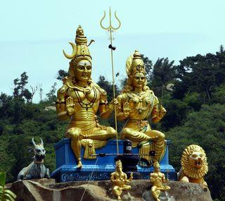 Обои на телефон холмы, духовные, шива, природа, shiva parvathi