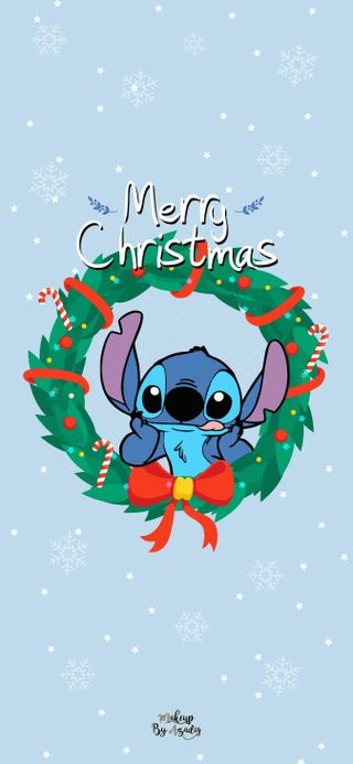 Обои на телефон стич, рождество, милые, любовь, love, christmas stitch