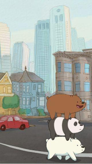Обои на телефон сеть, медведи, мультфильмы, милые, the bears