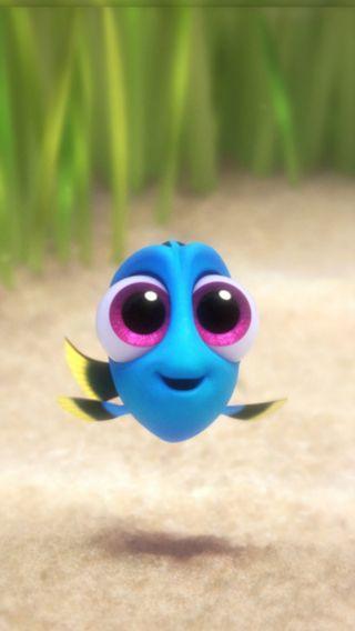 Обои на телефон синие, рыба, мультфильмы, милые, малыш, дори, дисней, вода, disney