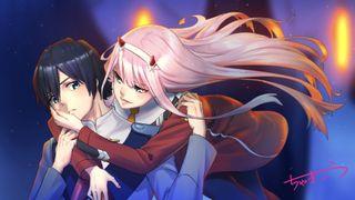 Обои на телефон пара, милые, аниме, hiro, franxx, 012, 002