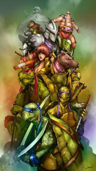 Обои на телефон черепашки ниндзя, черепахи, ниндзя, мутант, апрель, splinter, shredder, krang