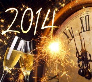 Обои на телефон шампанское, фейерверк, счастливые, новый, золотые, год, happy, 2014