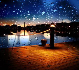 Обои на телефон погода, приятные, природа, озеро, ночь, новый, капли, дождь, вода, wharf, rainy night hd, hd