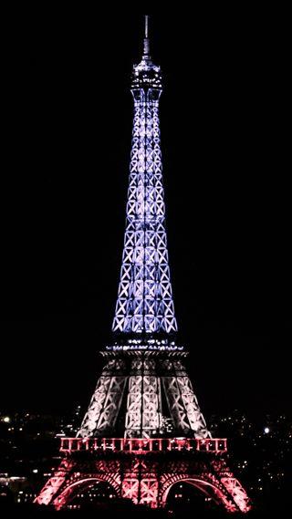 Обои на телефон эйфелева башня, франция, черные, париж, ночь, башня