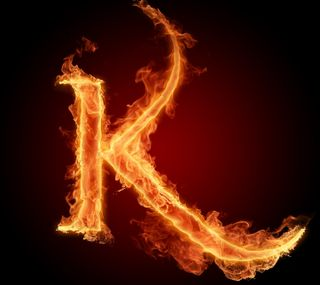 Обои на телефон буквы, огонь, letter k in fire hd, hd