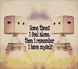 Обои на телефон сам, помни, друг, одиночество