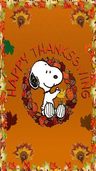 Обои на телефон карты, турецкие, счастливые, снупи, листья, день, благодарение, turkey day card