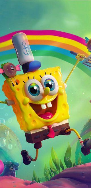Обои на телефон губка боб, счастливые, супер, губка, боб, happy spongebob