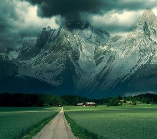 Обои на телефон красота, природа, небо, крутые, классные, зеленые, горы, вид