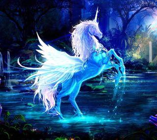 Обои на телефон лошадь, фантазия, картина, дизайн, белые, арт, white horse, art