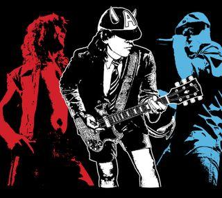 Обои на телефон постер, цветные, рок, рисунки, музыка, жесткие, группа, acdc