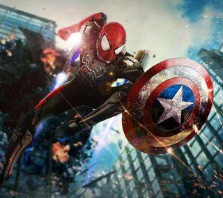 Обои на телефон супергерои, рисунки, паук, мультфильмы, марвел, комиксы, гражданская, голливуд, война, spider man civil war, marvel, dc