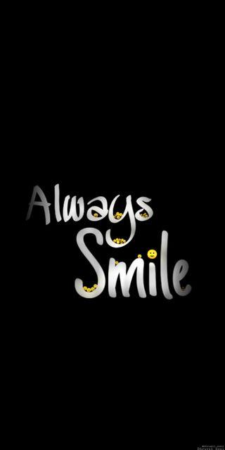 Обои на телефон always smile, amoled, черные, цитата, жизнь, смайлики, амолед, экран, блокировка, бриллиант, грустные, вера, всегда