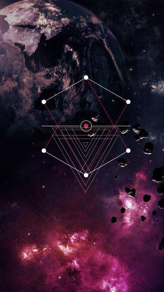 Обои на телефон формы, космос, звезды, время, shape of time 2