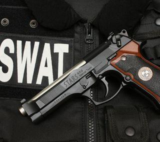 Обои на телефон пистолет, амбрелла, оружие, umbrella corporation, swat, strs