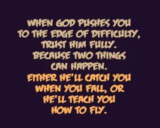 Обои на телефон доверять, приятные, поговорка, новый, жизнь, бог, trust him, teach, pushes, difficulty