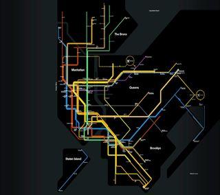 Обои на телефон карта, поезда, нью йорк, новый, железная дорога, город, subway map, subway, ny