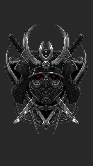 Обои на телефон японские, щит, самурай, череп, русский, воины, samurai hd, japanese warriors