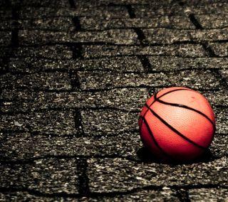 Обои на телефон корзина, кирпичи, спорт, мяч, игра, hd basket ball, hd, basket ball