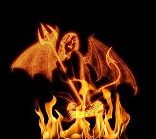 Обои на телефон дьявол, огонь, демон, devil fire