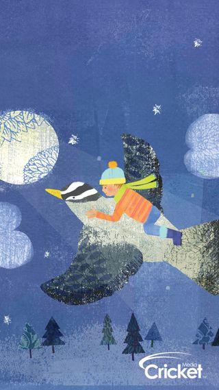 Обои на телефон крикет, рождество, летать, дети, далеко, арт, zedgecrickmas, fly away, art