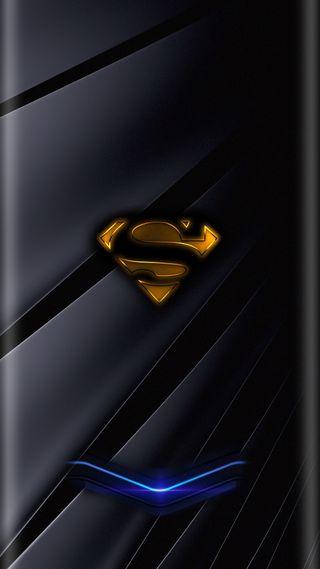 Обои на телефон супермен, неоновые, грани
