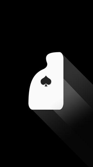 Обои на телефон тень, черные, туз, покер, плоские, карты, длинный, playing cards, long shadow