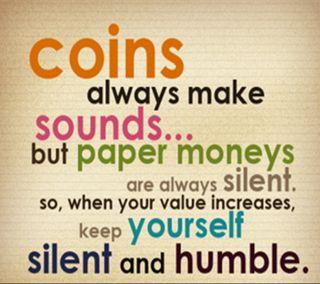 Обои на телефон тишина, правда, отношение, humble, coins, 2013