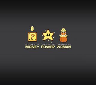 Обои на телефон марио, женщина, деньги, девиз, power, mario motto