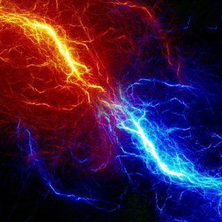 Обои на телефон молния, цветные, огонь, неоновые, лед, абстрактные, conflict