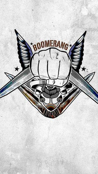 Обои на телефон фильмы, самоубийца, отряд, логотипы, комиксы, dc, boomerang
