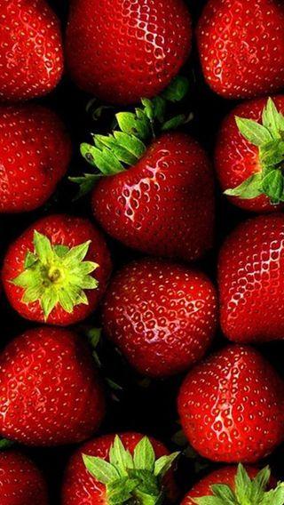 Обои на телефон свежие, эпл, фрукты, природа, красочные, клубника, еда, айфон, iphone, fresh strawberry, apple
