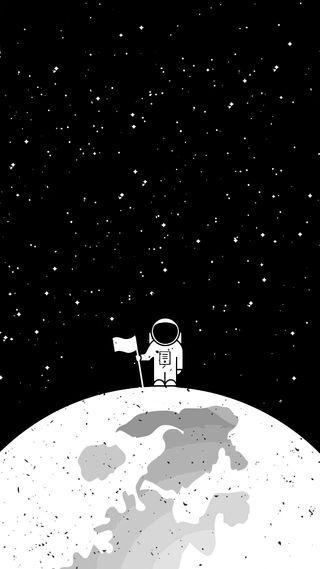 Обои на телефон яркие, черные, флаг, темные, супер, луна, космос, космонавт, классные, белые, амолед, the astronaut, srars, amoled