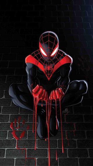 Обои на телефон сильный, черные, человек паук, тема, мультфильмы, мортал, марвел, анимационные, miraculous, marvel